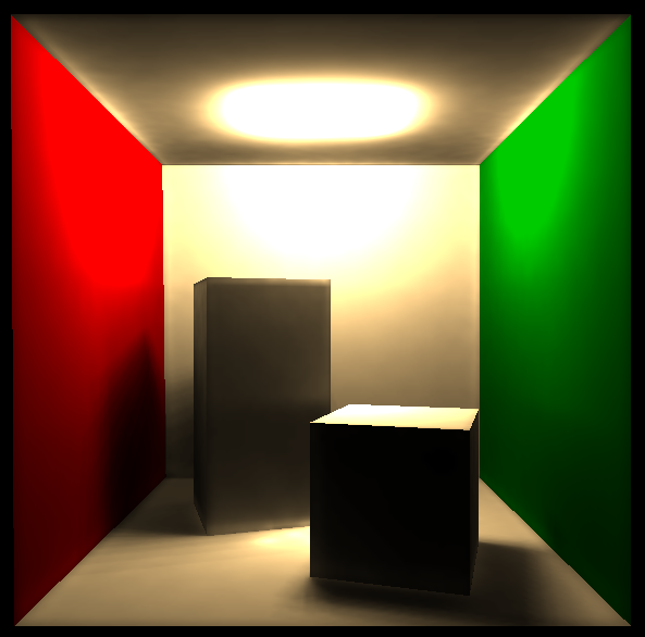 lighter2 raytraced & photon mapped Cornell Box